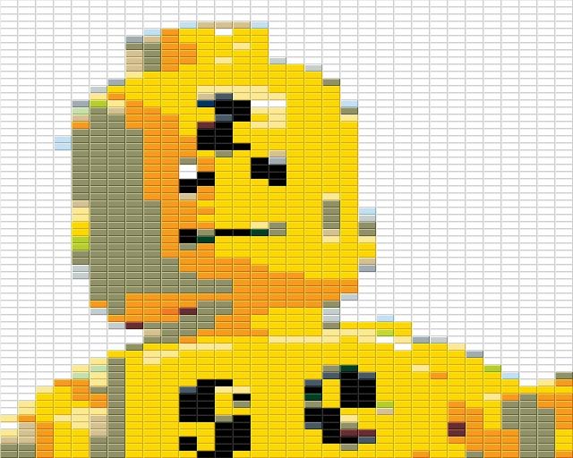 LEGO Dummy Mosaic - Studs on Top