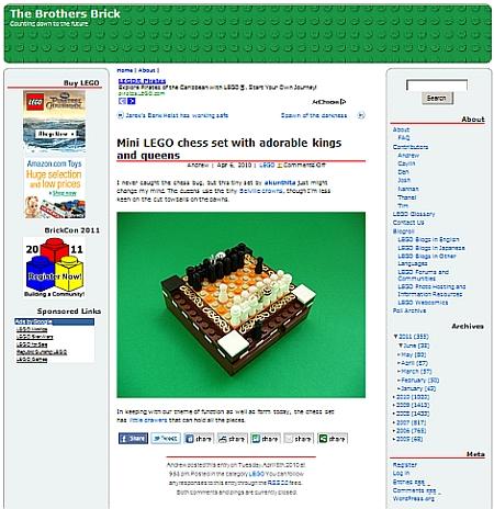 LEGO Mini Chess Set at The Brothers Brick