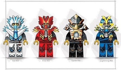 The above picture is supposedly a preliminary image of the Ninjago PWR