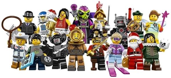 Lego Minifigure Series Set L  ~ Evil Robot Mad Scientist /& Alien