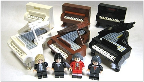 NEW LEGO GRAND PIANO minifig minifigure musical instrument keyboard accessory