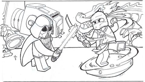 Ninjago vs. Star Wars by vonholdt