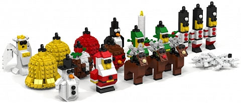 LEGO Christmas Tree Ornaments by Peter Johnston