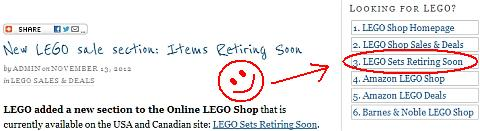 LEGO Sale LEGO Sets Retiring Soon Link