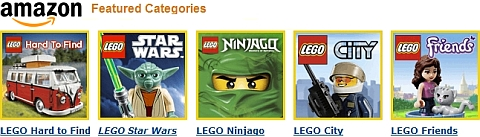 LEGO Sales on Amazon