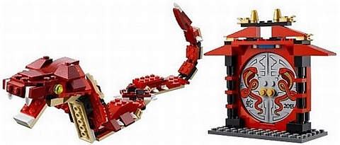 #10250 LEGO Year of the Snake Chinese Dragon Set Details