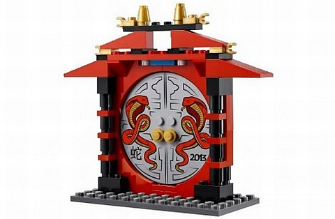 #10250 LEGO Year of the Snake Chinese Dragon Set Doorway