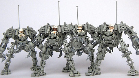 CUUSOO LEGO Exo Suit Line-Up by Peter Raid