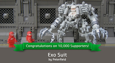 CUUSOO LEGO Exo-Suit by Peter Reid
