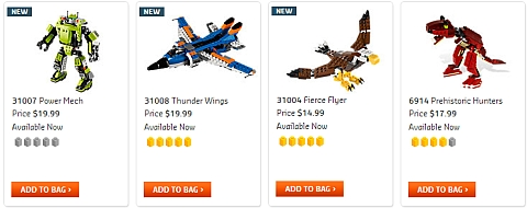 LEGO Creator Sets Available Now