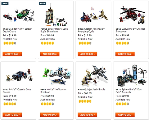 LEGO Marvel Super Heroes Sets Available Now