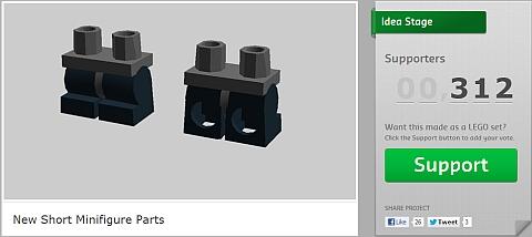 LEGO Poseable Short Legs on CUUSOO