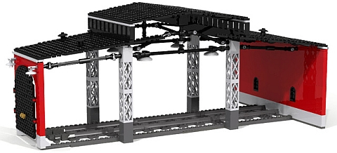 LEGO Train Roundhouse Module 1 by Fachman