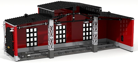 LEGO Train Roundhouse Module 2 by Fachman