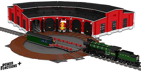 LEGO Train Turntable & Roundhouse by Fachmann