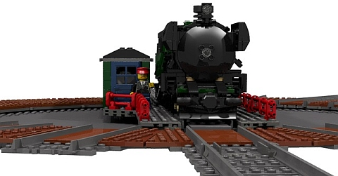 LEGO Train Turntable Side View by Fachman