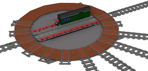 LEGO Train Turntable by Fachmann