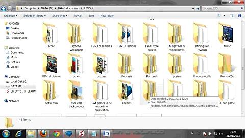LEGO Video Folders