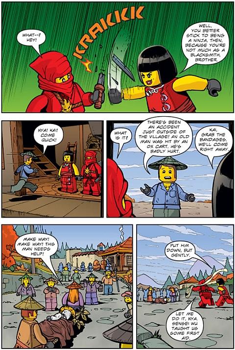 Ninjago LEGO Book Page Details