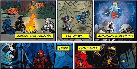 Ninjago LEGO Books by Papercutz Details