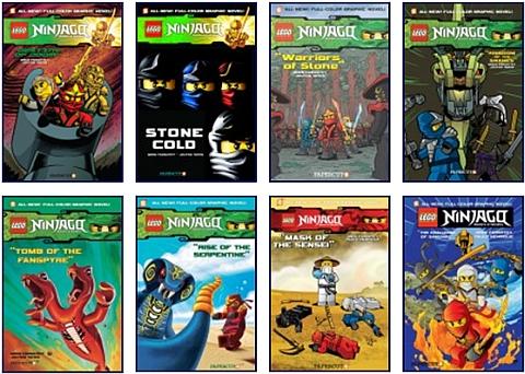 Ninjago LEGO Books by Papercutz