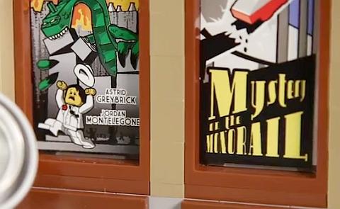 Astrid & Jordan's Signiture on the LEGO Palace Cinema
