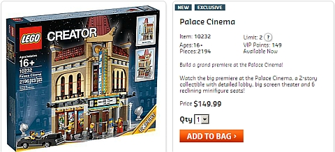 Buy LEGO Modular Palace Cinema