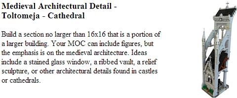 LEGO Castle Contest - Medieval Architectural Detail