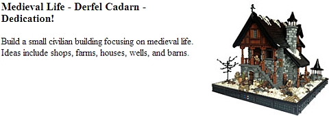 LEGO Castle Contest - Medieval Life