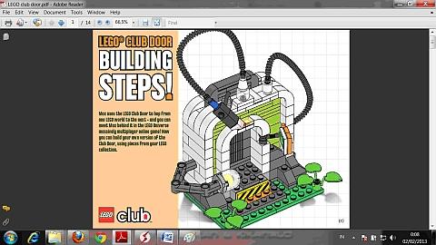 LEGO Instructions LEGO Club Door Model