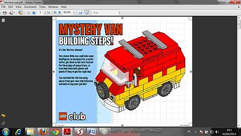 LEGO Instructions for LEGO Club Van Model