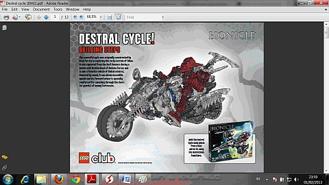 LEGO Instructions for LEGO Cycle Model
