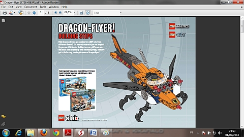 LEGO Instructions for LEGO Dragon Flyer Combiner Model