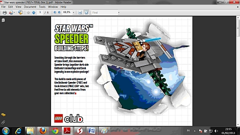 LEGO Instructions for LEGO Star Wars Combiner Model