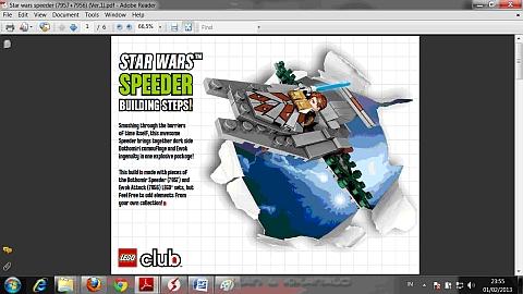 LEGO Instructions for LEGO Star Wars Combiner Model