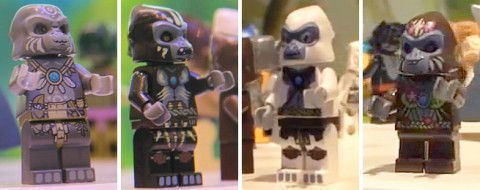 LEGO Legends of Chima Gorillas - Gardo, Gorzan, Grizzam, G'Loona