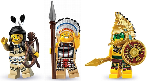 LEGO Minifigure Series Native American Warriors