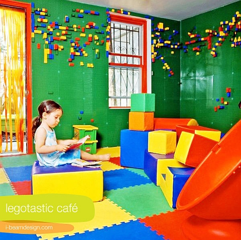 LEGO Room LEGO Wall by I-Beam Design