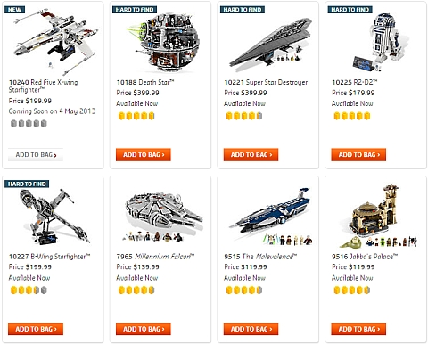 LEGO Star Wars Ultimate Collector Sets Available Now