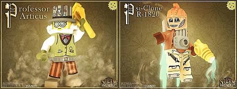 LEGO Steampunk Professor & Psi-Clone