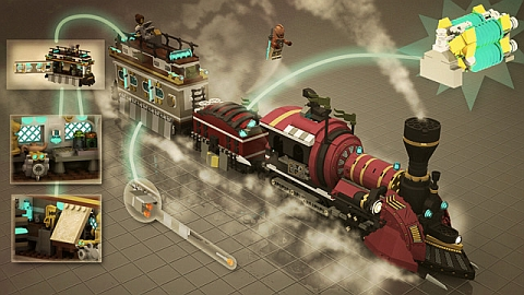 LEGO Steampunk Train on CUUSOO