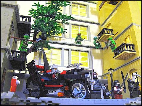 LEGO Teenage Mutant Ninja Turtles Diorama Details by M.R. Yoder