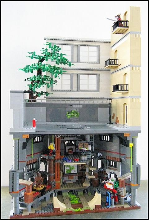 LEGO Teenage Mutant Ninja Turtles Diorama by M.R. Yoder