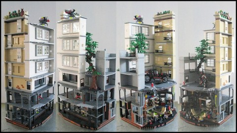LEGo Teenage Mutant Ninja Turtles Diorama Views by M.R. Yoder