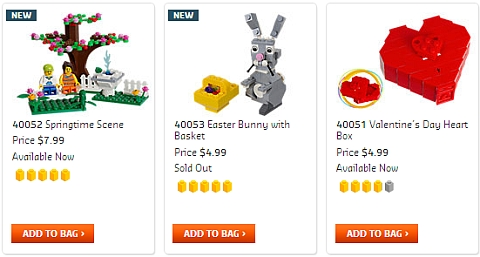 LEGO Easter and Spring Sets