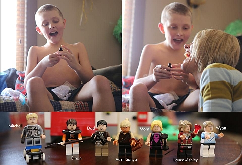 LEGO Fan Mitchell Jones Opening His MinifigME Package