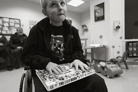 LEGO Fan Mitchell Jones with The LEGO Book