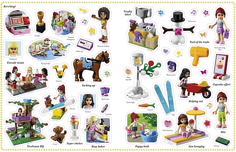 LEGO Friends Sticker Book Stickers