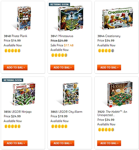 LEGO Games Available Now