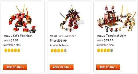 LEGO Ninjago Mech Sets